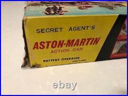 007 Aston Martin DB5 James Bond Tin Battery Car Original Box 1965 Japan Gilbert