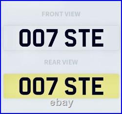 007 STE Private Number Plate STEVEN STEPHEN STEVE Funny Rude Bond Aston Martin
