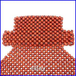 1/2PCS Natural Wood Wooden Beaded Massage Auto Car Truck Seat Cover Cool Cushion