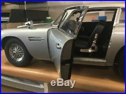 1/8 Scale Aston Martin DB5 James Bond 007 hand built model car plus all mags