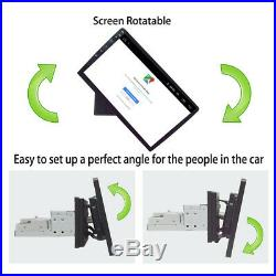 10.1 Android 8.1 1Din Car Stereo Radio GPS Wifi OBD2 Mirror Link Rotary Player