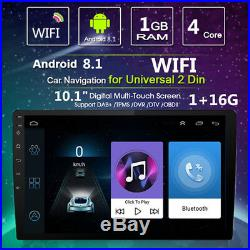 10.1 Android 8.1 Double Car Stereo Radio GPS Wifi OBD2 2Din Mirror Link Player