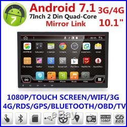 10.1 Quad-Core Android 7.1.1 Car GPS Navigation Wifi 3G/4G Stereo Radio Player