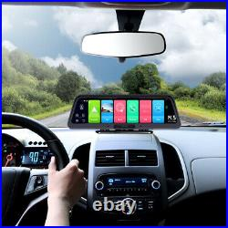 10 1080P Android 8.1 Touch Screen Car Dual Cameras Dash Night Vision GPS Navi
