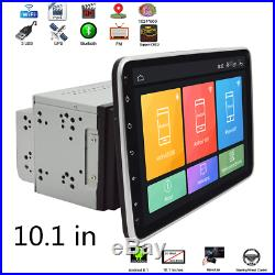 10.1in 2 Din Car Android 8.1 WIFI 4G GPS Navigation Mirror Link Rotatable Screen