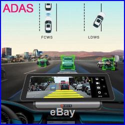 10 HD Full Touch IPS 4G ADAS Android GPS Nav Car WIFI DVR Recorder+Rear Camera