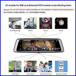 10 inch ADAS GPS FM WIFI Bluetooth G-sensor Car DVR Recorder + Rear View Camera