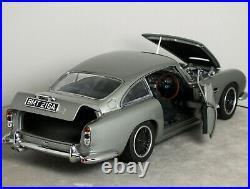 118 AUTOart Custom ASTON MARTIN DB5 Goldfinger 007 JAMES BOND MODIFIED Code 3