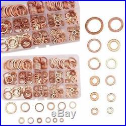 12 Sizes Sump Plug Set Kit With Plastic Box Assortment Copper Washers 280Pcs