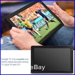 12V Portable 12'' TFT LED HD TV Television Digital Analog Car Home DVB-T2 Signal