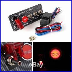 12V Racing Car Boat Engine Start Push Button 4 in 1 Toggle Ignition Switch Panel