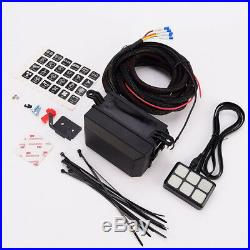 12V Universal 6 LED Switch Panel Relay Control Box+Wiring Harness for Car Truck