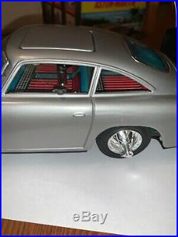 1965 Gilbert Battery Operated Db5 James Bonds Aston-martin Toy In Box Wow