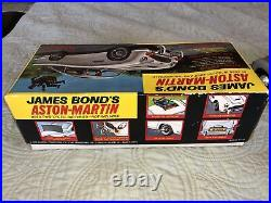 1965 James Bond 007 Aston Martin DB5 Tin Battery Op Car ORIGINA/Box All Working