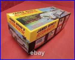 1965 James Bond 007 Aston Martin DB5 Tin Battery Op Car WithBox Gilbert WORKING