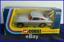1973 Corgi 270 007 James Bond Aston Martin DB5 + Sealed Instructions Mint NM Box