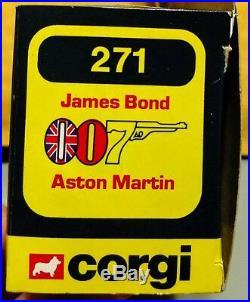 1979 Corgi #271 James Bond Aston Martin Die-cast 132 In Package James Bond 007