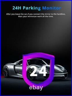 2+32GB 8in Car DVR Dash Cam Recorder+Rear Camera GPS WIFI 4G Bluetooth G-sensor