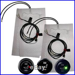 2 Seats Heated Seat Heater Kit 12V Carbon Fiber Round High/Low Switch Universal