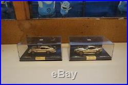 2 x Minichamps 1/43 Aston Martin DB5 & DBS James Bond Collection Gold Plated T1