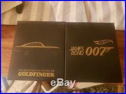 2014 SDCC Hot Wheels James Bond 007 Goldfinger Aston Martin NEW