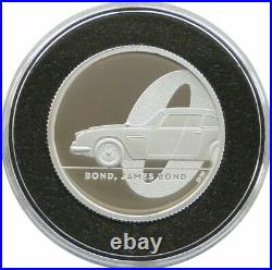 2020 James Bond 007 Aston Martin DB5 £1 Silver Proof 1/2oz Coin Box Coa