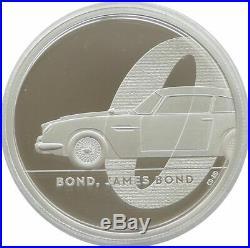 2020 James Bond 007 Aston Martin DB5 £5 Five Pound Silver Proof 2oz Coin Box Coa