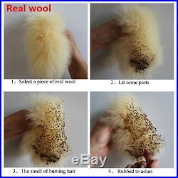 2PCS Australian Sheepskin Fur Long Wool Car Autos Front Seat Cover Winter Fluffy
