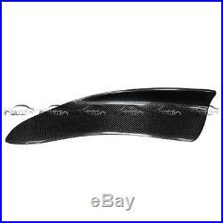 2Pcs Universal H2 Style Carbon Fiber Look Rear Bumper Lip Diffuser Splitters