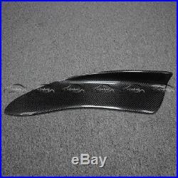 2Pcs Universal Rear Bumper Lip Diffuser Splitters Carbon Fiber Look H2 Style