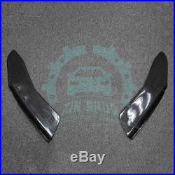 2Pcs Universal Rear Bumper Lip Diffuser Splitters Carbon Fiber Look aa62