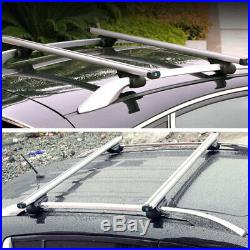 48 / 120 cm Silver Cross Bar Top Luggage Roof Rack Cargo Rail Car Auto Aluminum