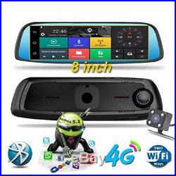 4G 8inch Touch GPS Car DVR Camera Mirror GPS WIFI Android 5.1 Dual Lens Recorder