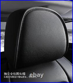 5 Seat PU Leather Full Set Luxury Car Seat Cover Cushion 6D Surround Breathable