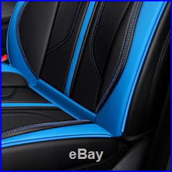 5-Seats Car Seat Cover Front+Rear 6D Microfiber Leather Cushion Fit All Season