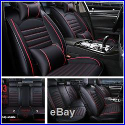 5-Seats Full Set Auto Car Seat Cover Cushion Deluxe Edition PU Leather withPillows