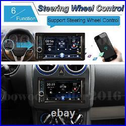 6.2 2Din Car Stereo Radio Bluetooth MP5 DVD CD Player FM AUX USB Mirror Link