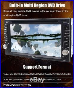 6.2 Double 2Din Car DVD Stereo Radio Player Bluetooth HD Touch Screen Map Card