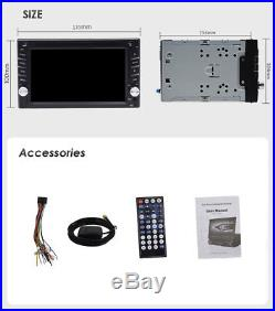 6.2 GPS Navigation Double Din Car Stereo DVD Radio Player Bluetooth FM + 8G Map