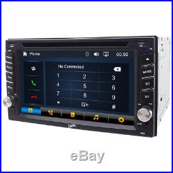6.2Touchscreen Stereo Car DVD Player GPS Auto Radio With Camera 2DIN Bluetooth