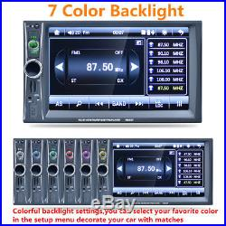 6.6 HD Touch 2 Din Car Stereo Radio MP5 Player GPS Navigation Bluetooth USB+Map