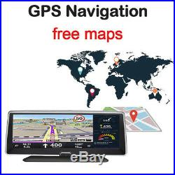 7.8 1080P Android5.1 Car Dash Camera Recorder Bluetooth Wifi FM GPS Navi Map 4G