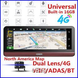 7.84'' 4G Car Dash Camera DVR WiFi Bluetooth GPS Navigation Video Recorder withMap