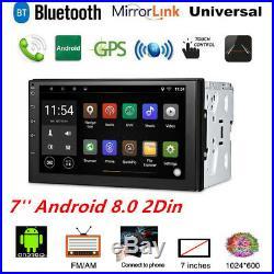 7'' Android 8.0 WiFi 2Din Car Radio Stereo GPS Navi Multimedia Player Universal