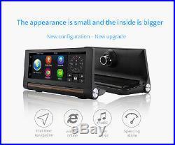 7'' Car DVR Full HD 1080P Video Recorder GPS Dual Lens Camera WIFI Bluetooth