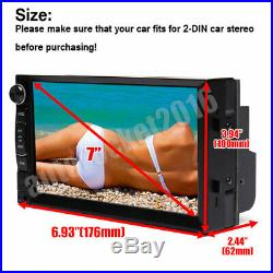 7'' Double 2 DIN Car Stereo WIFI AM FM Radio Mirror Link for GPS Navigation +CAM
