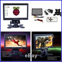 7 HD TFT Car AV/VGA/HDMI Monitor Built-in Speaker For CCTV Computer PC DVR Home