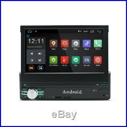 7 Retractable Screen 1Din Quad Core Car Stereo Radio GPS DAB RDS Wifi 3G 4G