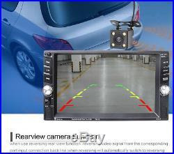 7651D Car MP5 MP3 Player Camera 6.6 HD Touch Screen 2DIN Bluetooth FM Radio AUX