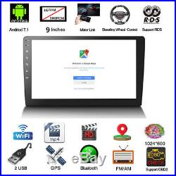 9 Android 7.1 Double 2DIN In dash Car stereo Radio Player GPS WiFi Mirror Link